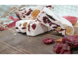 [埕憶菓子工坊] 法式牛軋糖-團圓禮盒:C1款蔓越莓 20入 (奶蛋素)  1盒